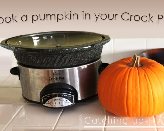 Cook a pumpkin in a crock pot