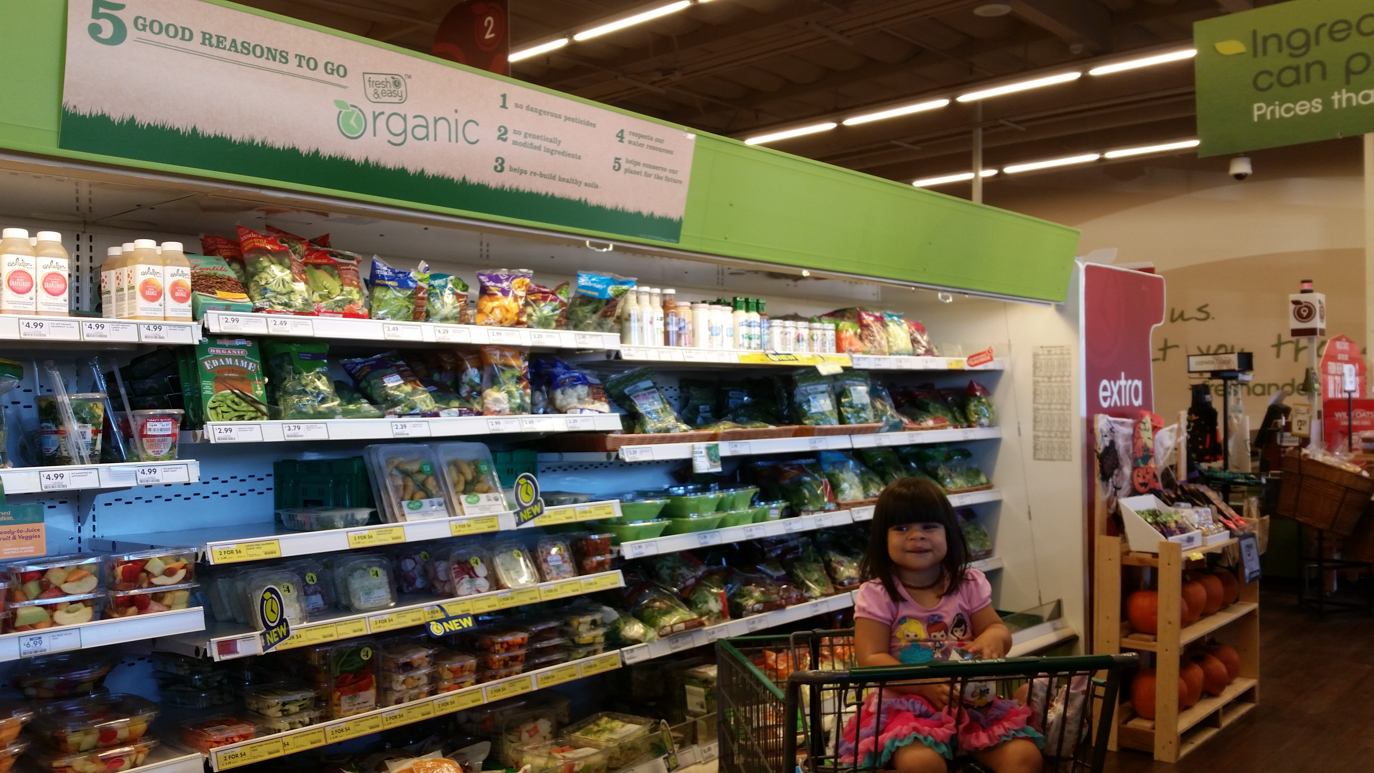 Kids in the Kitchen : Organic Veggie Steamers from Fresh & Easy