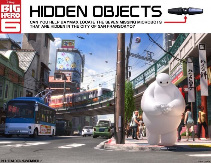 big Hero 6 printable hidden objects