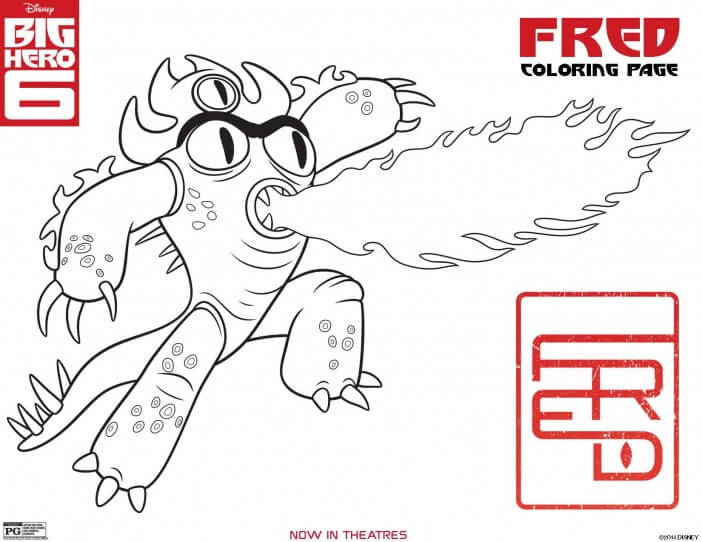 Big Hero 6 coloring pages, Fred coloring page