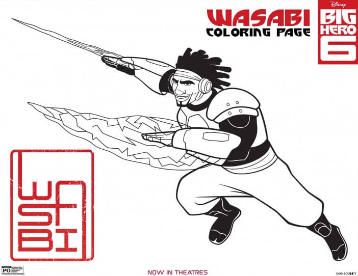 Big Hero 6 coloring pages, 6 wasabi