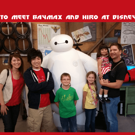 Meet Baymax at Disneyland!