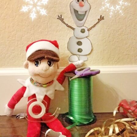 "Easy Elf on the Shelf Idea - Olaf ""Do You Wanna Build a Snowman?"""