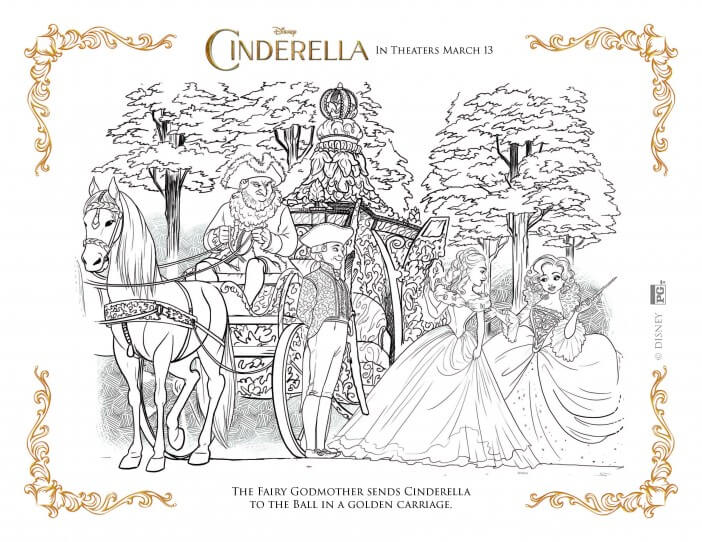 Cinderella coloring pages fairy godmother