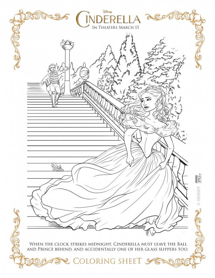 Cinderella coloring pages slipper