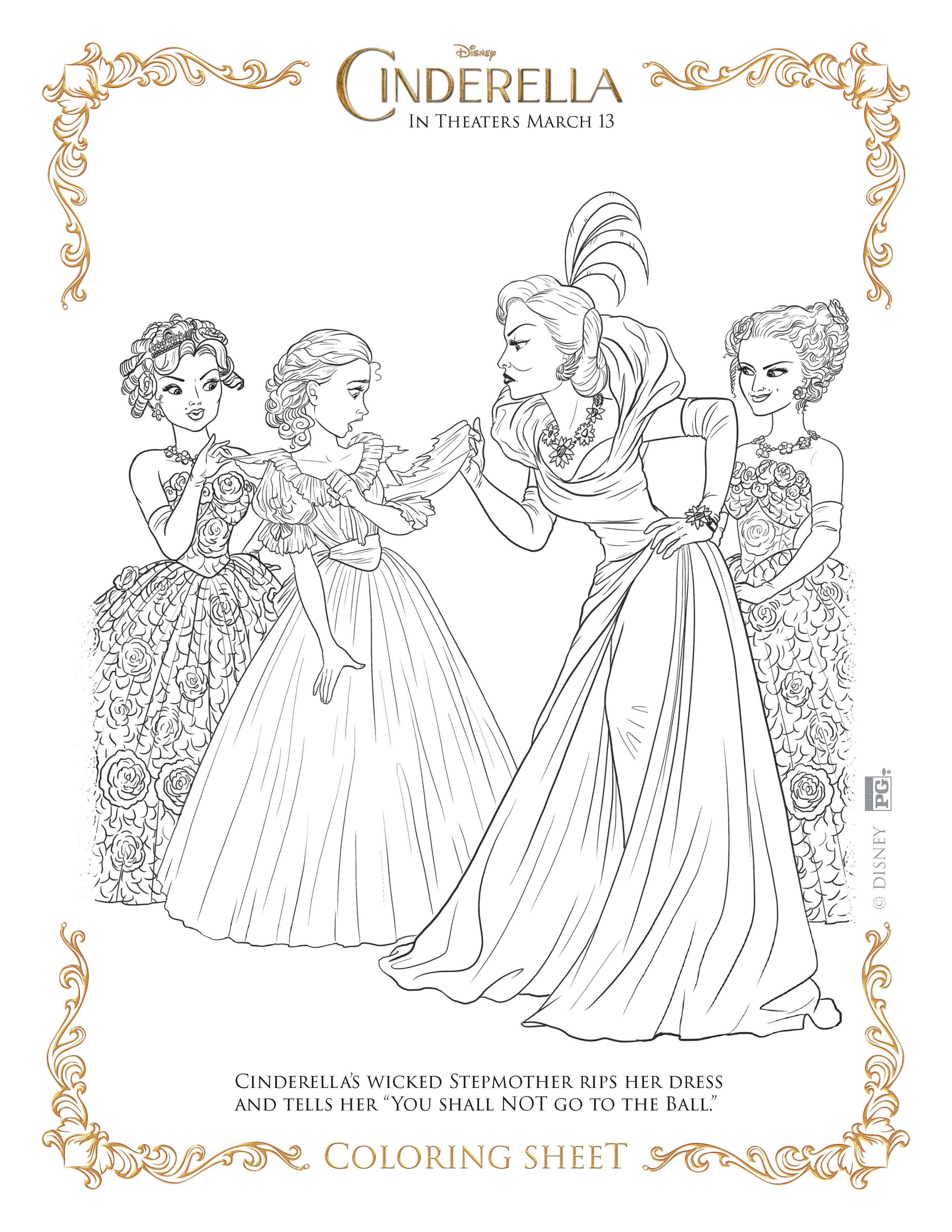 Cinderella coloring pages Highlights