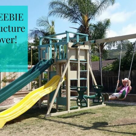 Our FREEBIE backyard play structure makeover!