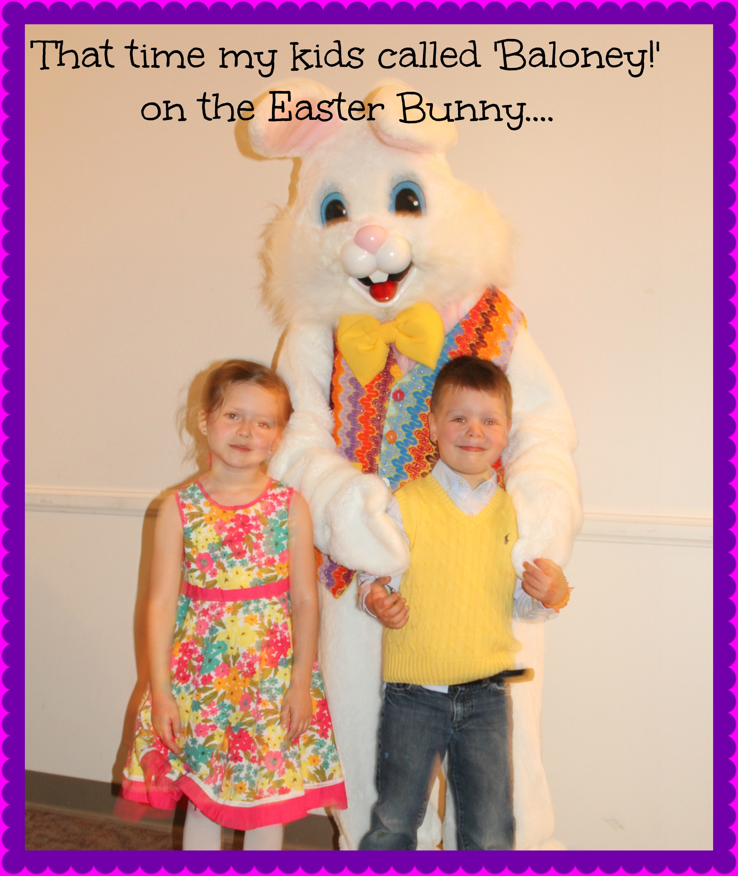 That time my kids called 'baloney' on the Easter Bunny