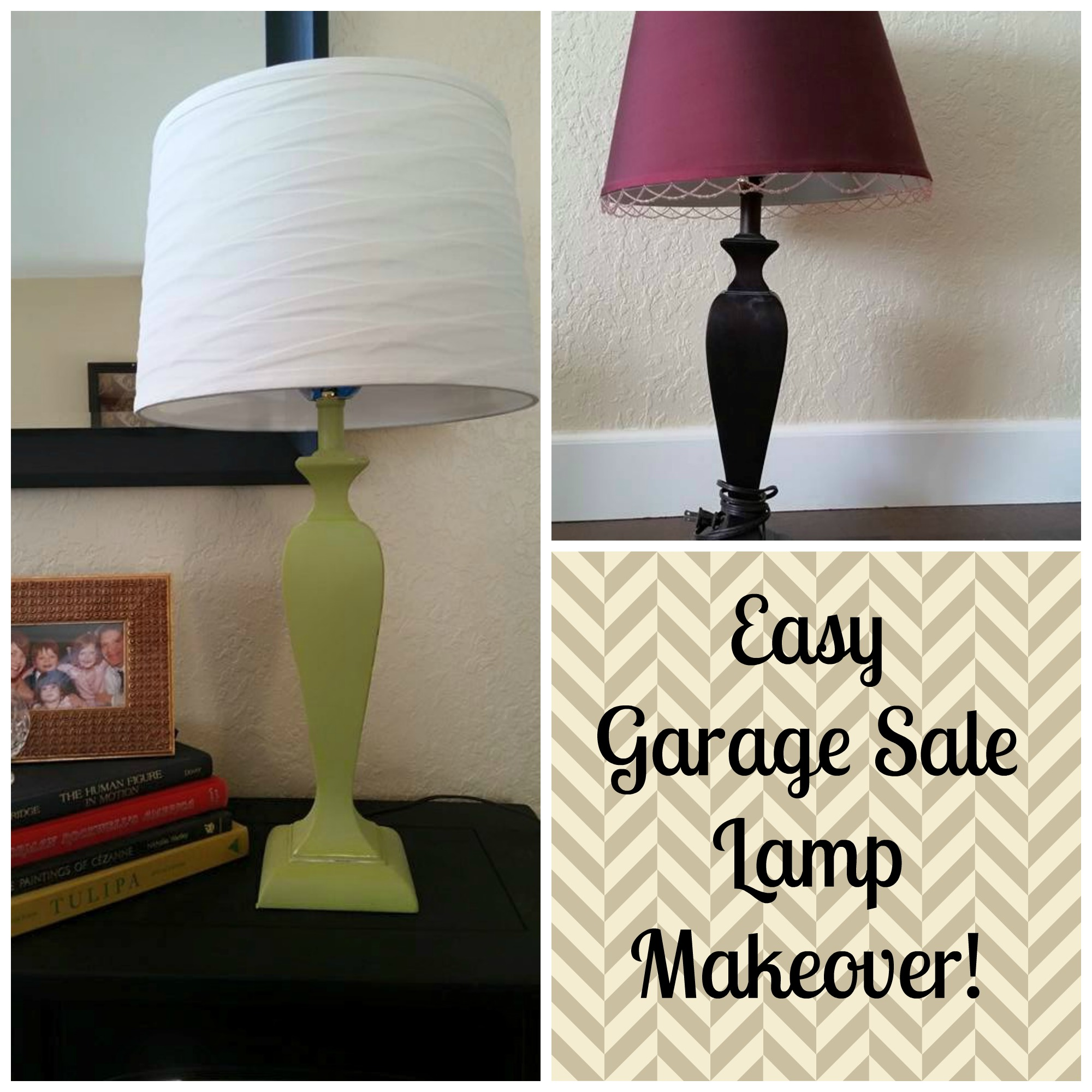Garage Sale Lamp Makeover!