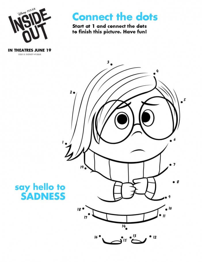 Inside Out printable activity sadness
