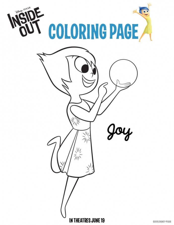 inside out coloring sheet joy