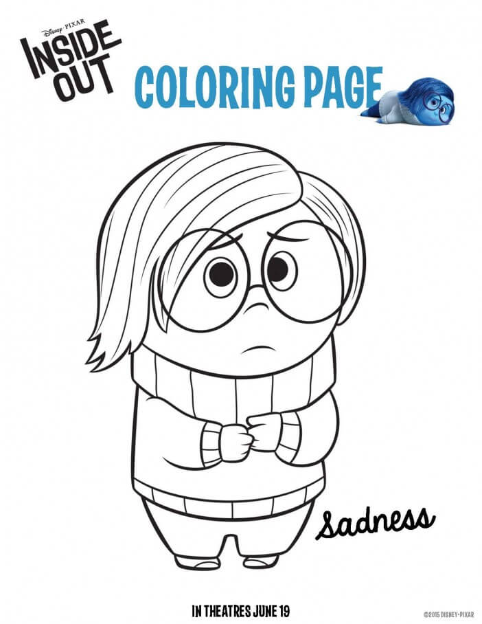 inside out coloring sheet sadness