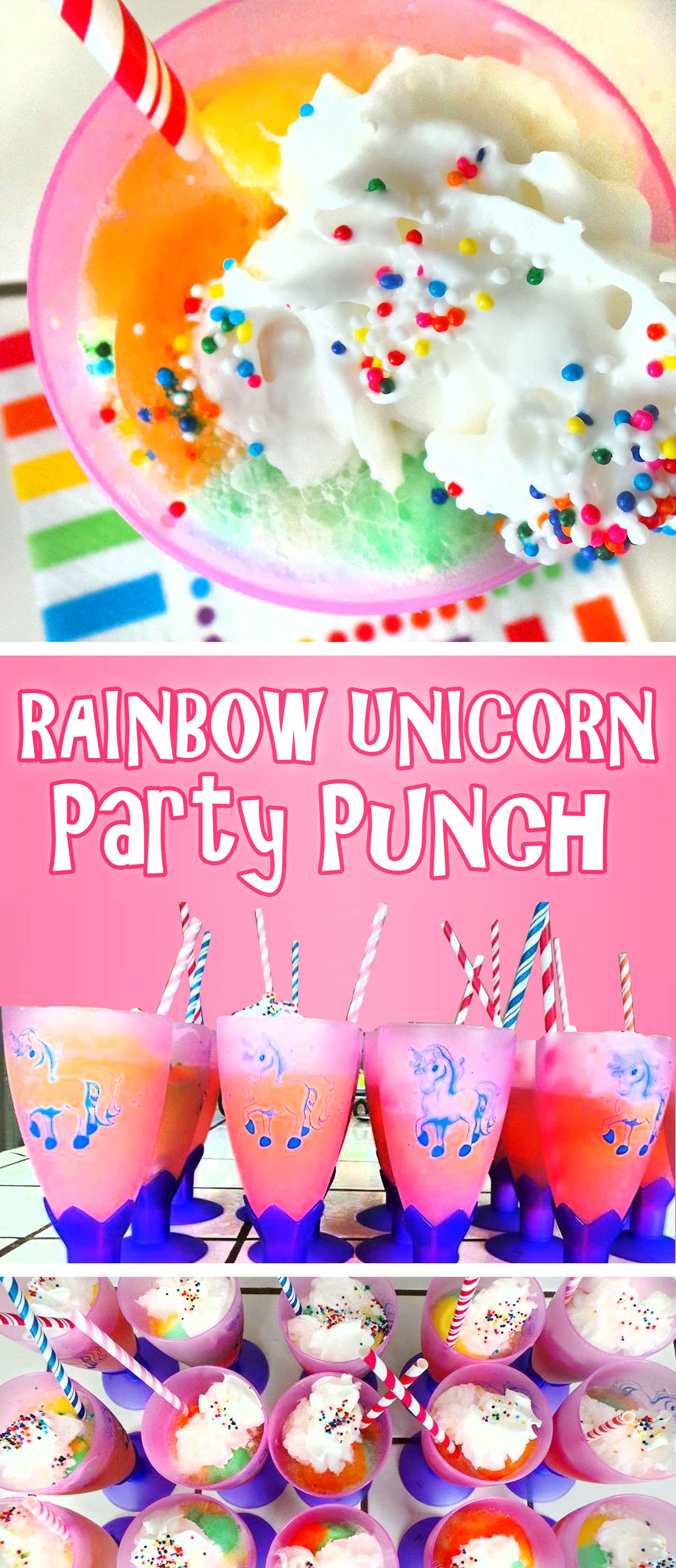 Rainbow Unicorn Party Punch Unicorn Punch Recipe