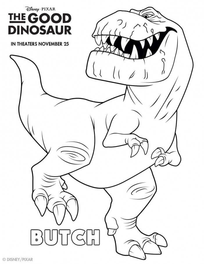 The Good Dinosaur coloring sheet