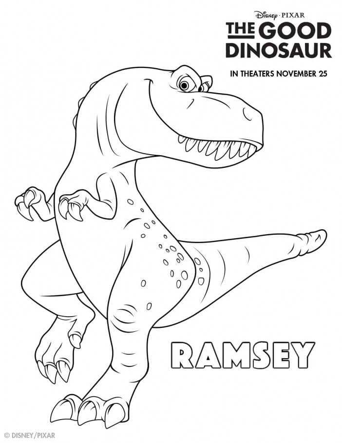 The Good Dinosaur coloring sheets