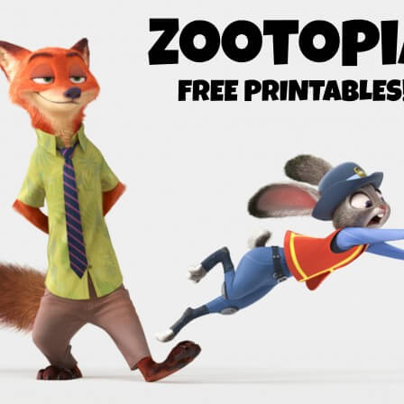 Holiday themed printables from Zootopia
