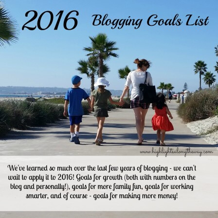 Blogging Goals List!