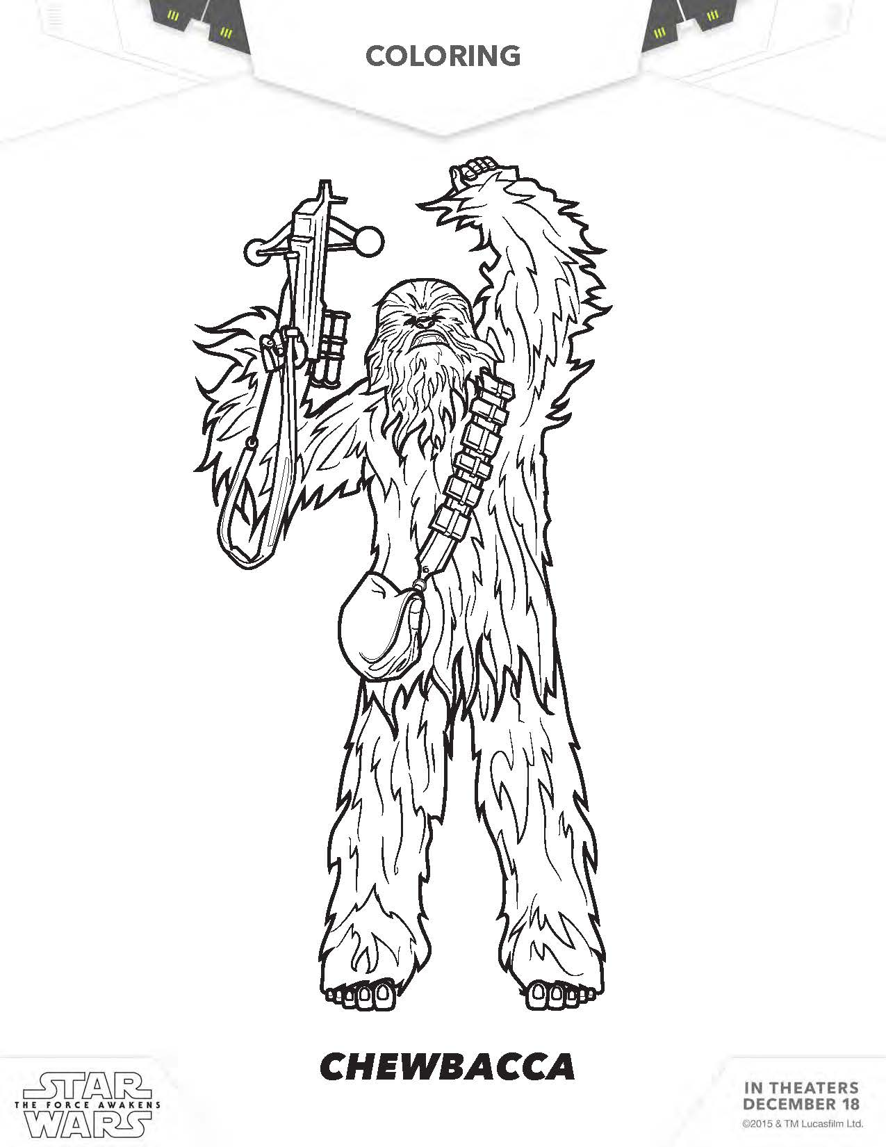 Kylo Ren Coloring Page Star Wars Finn Sheet Chewbacca