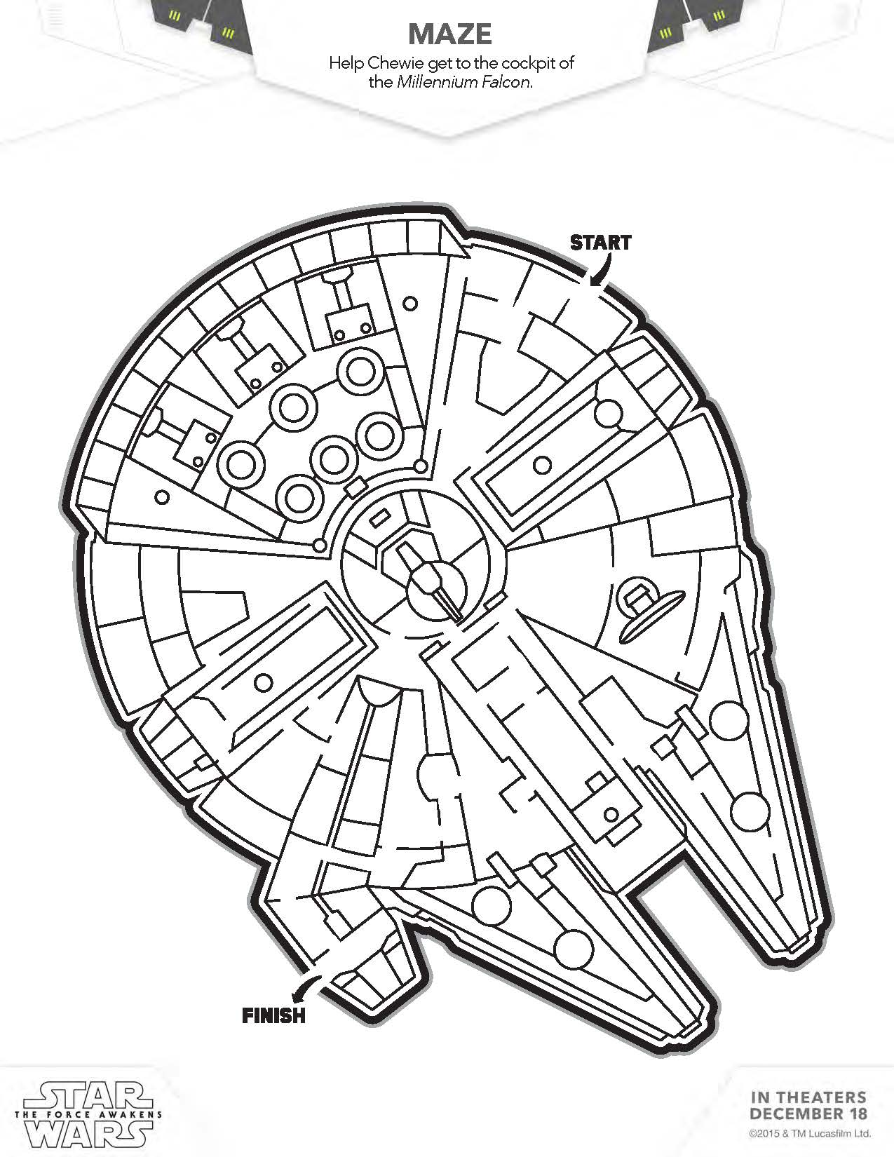 milenium falcon maze download star wars logo star wars coloring