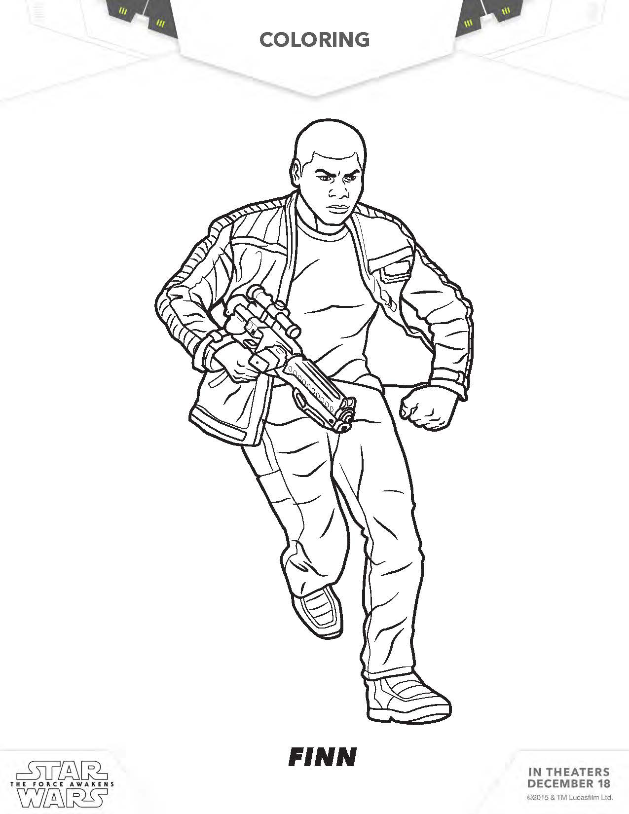 Kylo Ren Coloring Page Star Wars Finn Sheet
