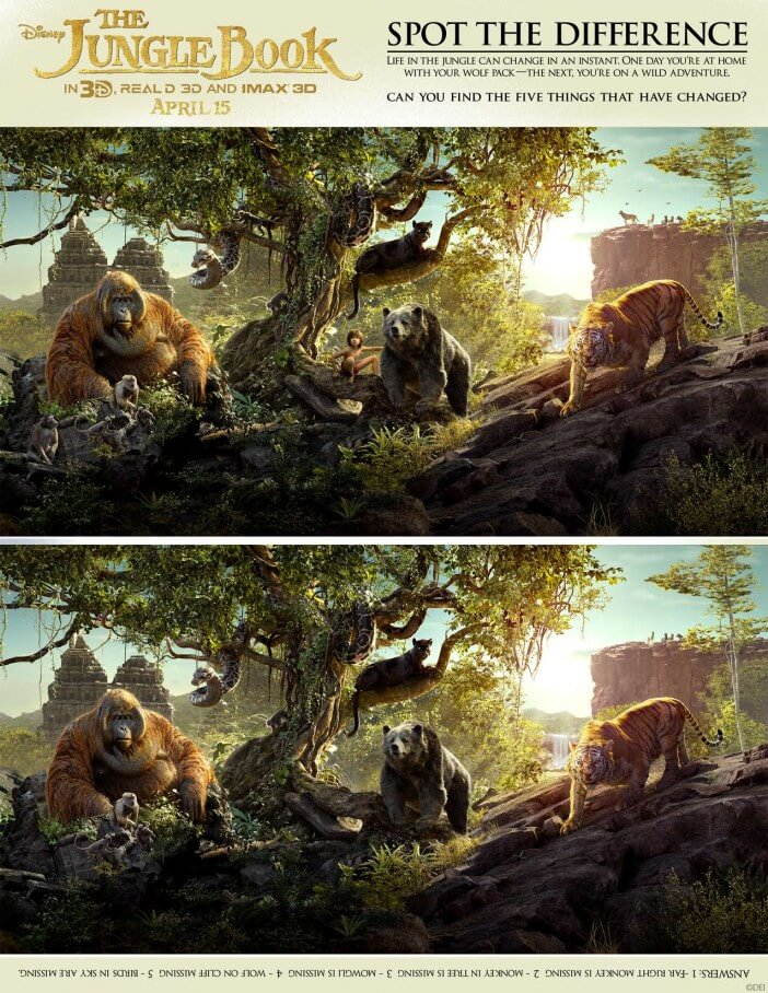 the jungle book spot the difference