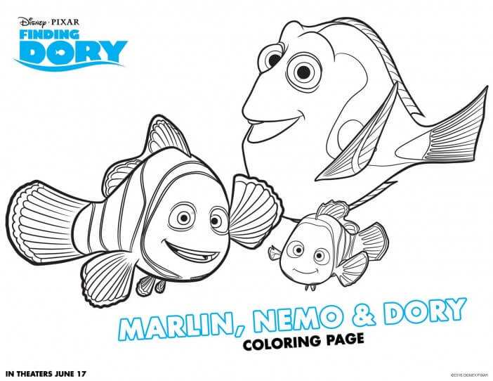 Finding Dory coloring sheet