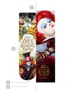 Alice printable bookmarks