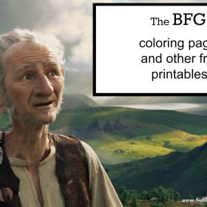 The BFG coloring pages - free printables!