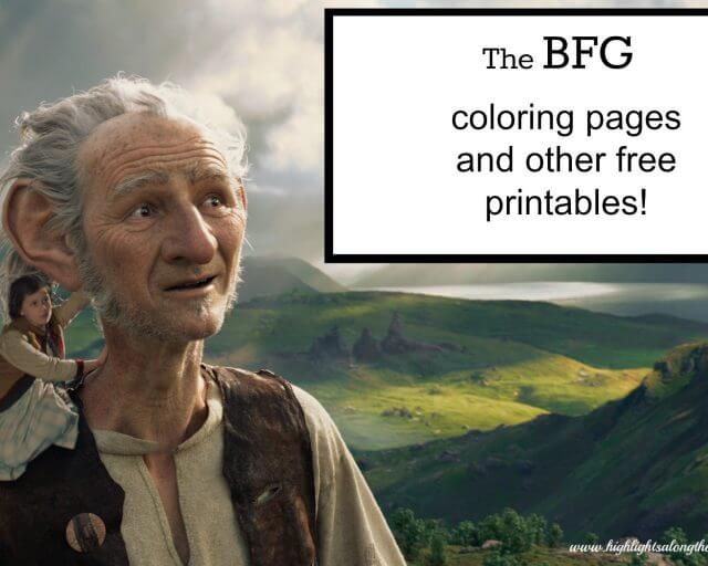 bfg coloring pages