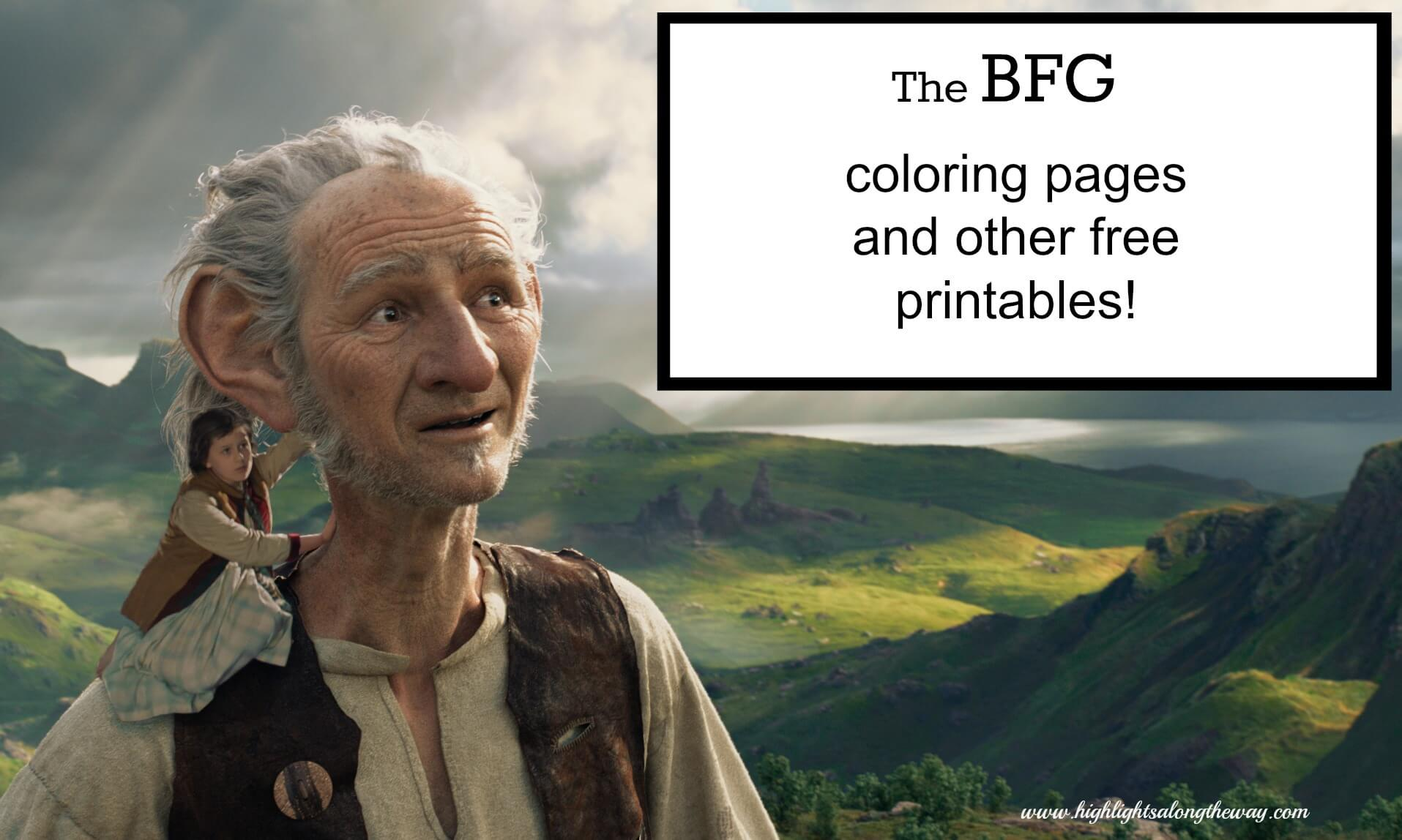 The BFG coloring pages – free printables!