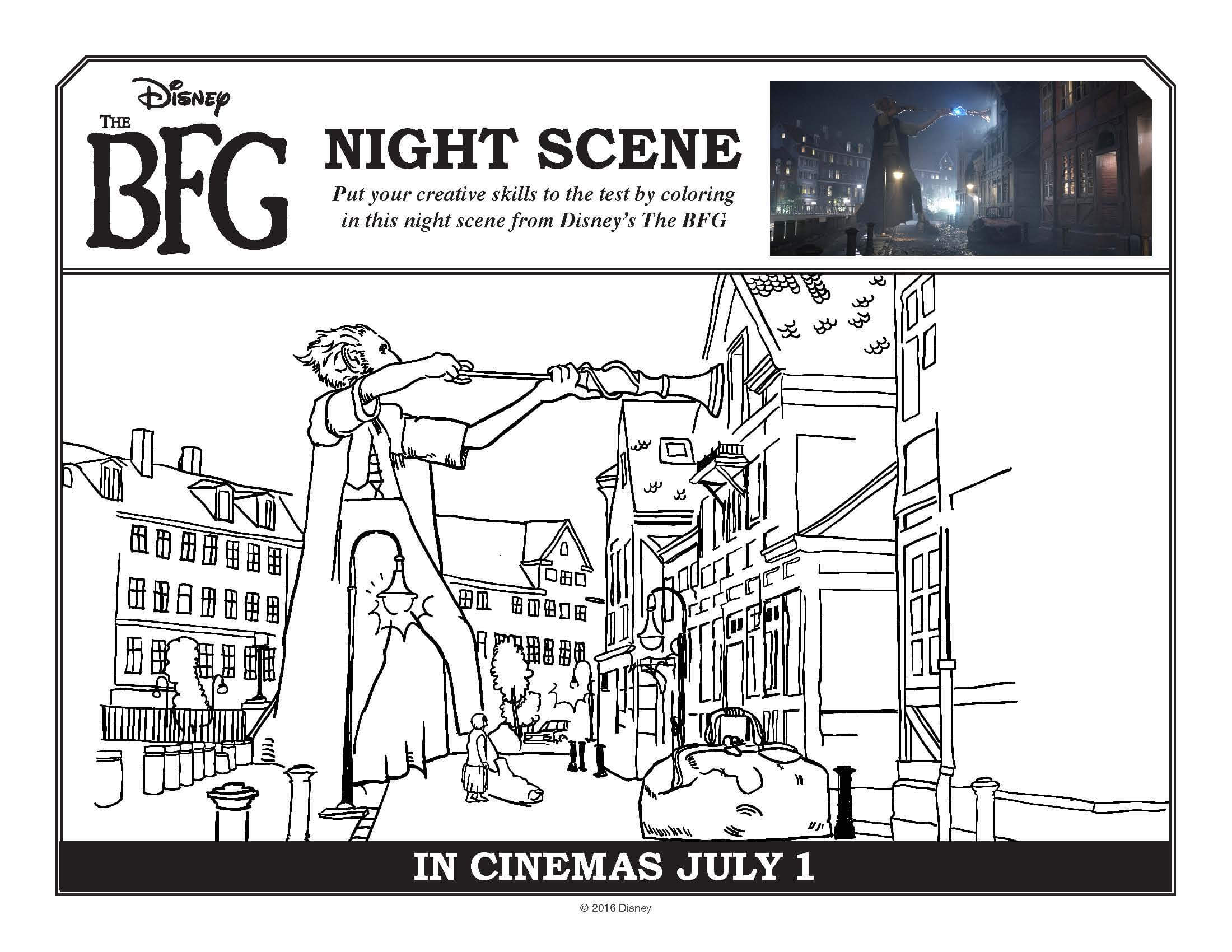 The BFG Coloring pages and free