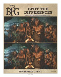 The BFG printable spot the difference