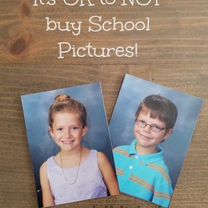 Its OK to not buy school pictures