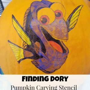 Finding Dory Pumpkin Carving Stencil and Halloween Party ideas!