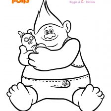 , trolls coloring pages biggie and mr dinkles