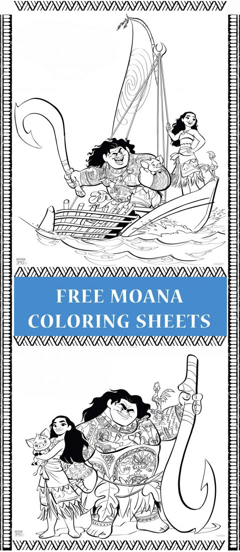 Moana coloring pages Moana Coloring