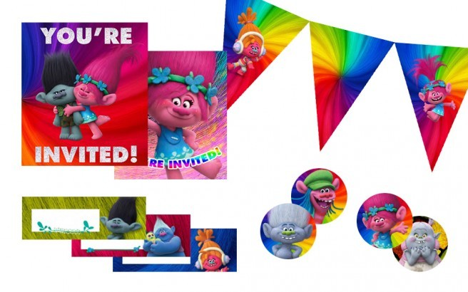 trolls printables party kit