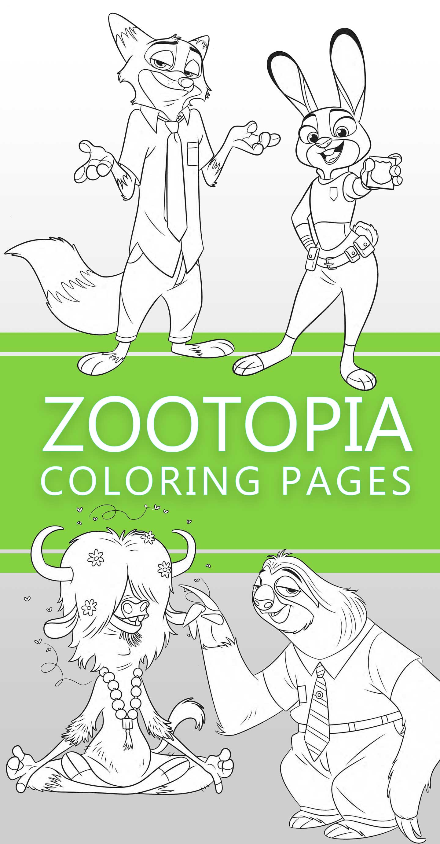 Zootopia coloring pages - Highlights Along the Way