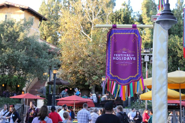 festival of holidays banner at Disney California Adventure Park