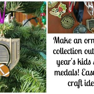 Make a DIY Ornament out of kids Sports Medals for your Christmas Tree!