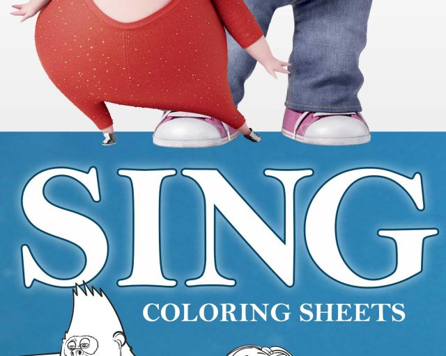 sing coloring sheets