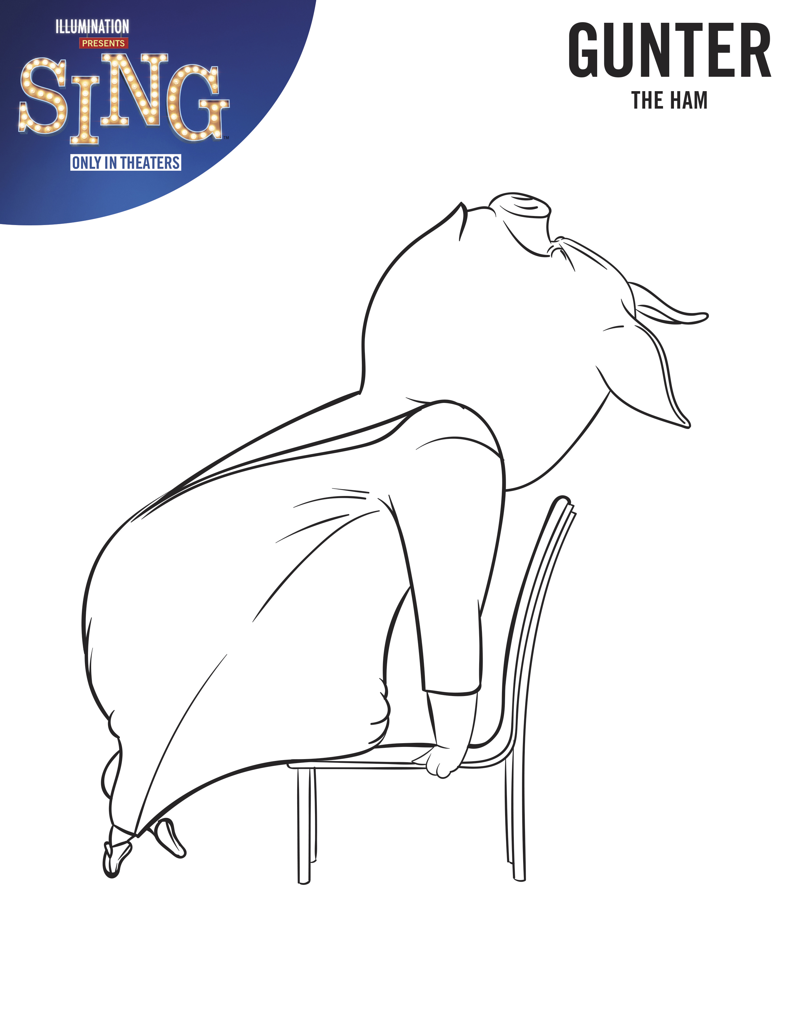 coloring print pages we sing - photo#3
