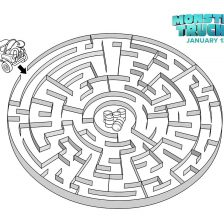monster trucks movie printable maze