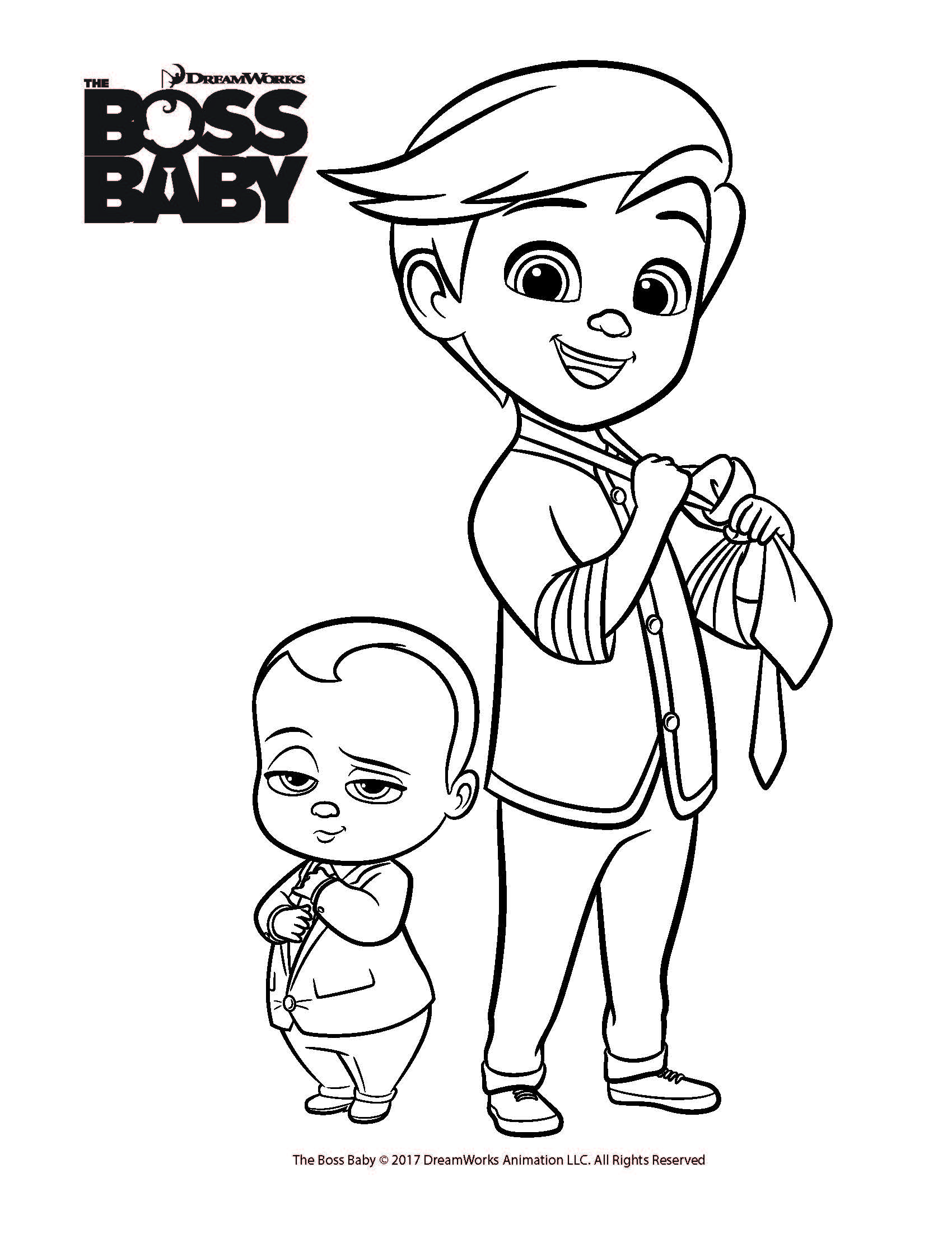 Boss Baby Printable Coloring Sheet