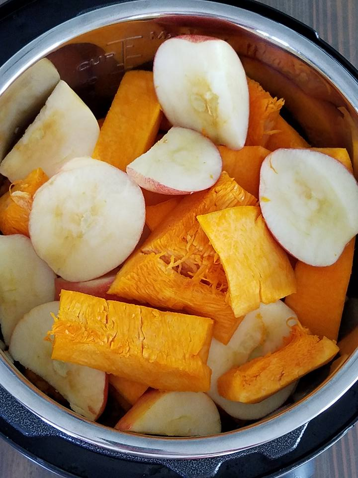 pumpkin and apples in the instant pot