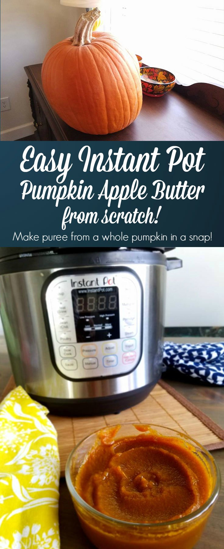 pumpkin apple butter in the instant pot from scratch