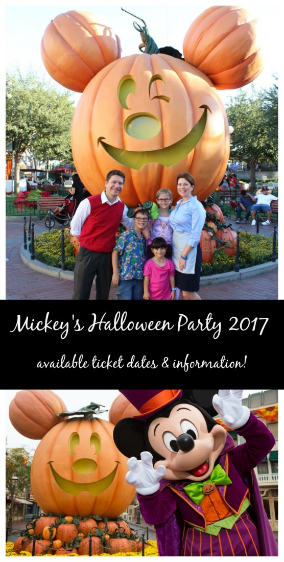 mickeys halloween party 2017 ticket dates