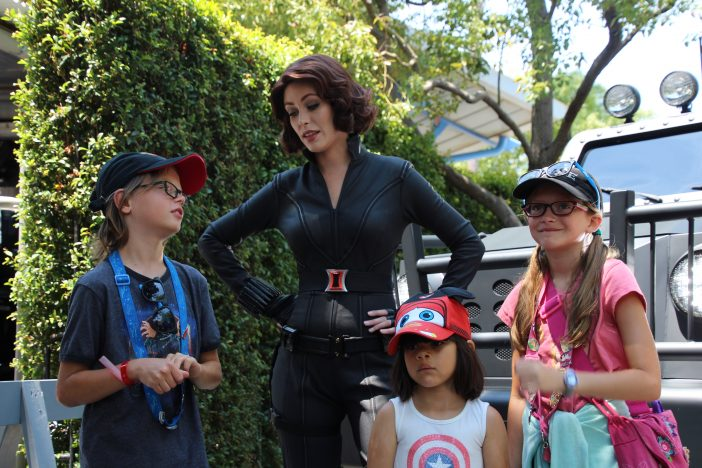 black widow meet and greet disney