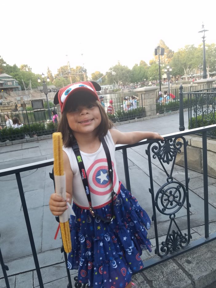 gold churro at Disneyland