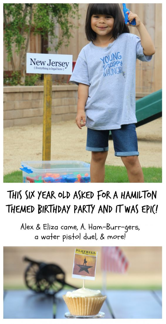 six year old kids hamilton themed birthday party